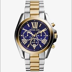 Michael Kors Oversized Bradshaw Two-Tone Watch